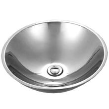 Stainless Steel Single Bowl Lavatory Vessel Sink, Mirror Finish