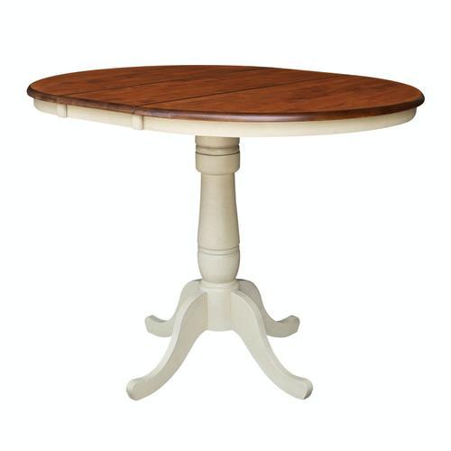 Round Extension Table in espresso/Almond