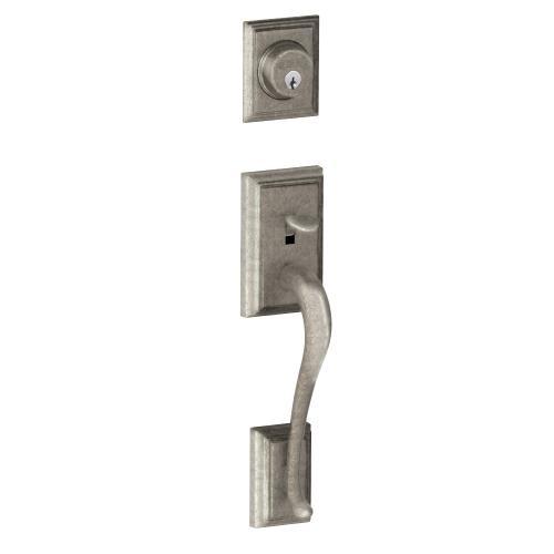 Addison In-active Handleset and Georgian Knob - Distressed Nickel