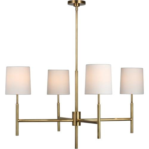 Barbara Barry Clarion LED 38 inch Soft Brass Chandelier Ceiling Light, Large