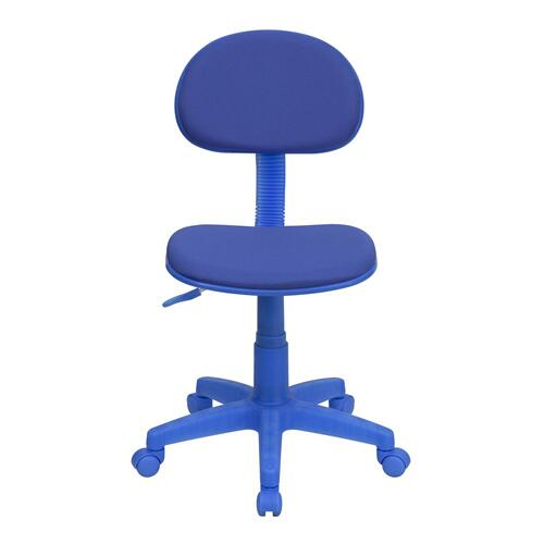 Blue Fabric Swivel Task Chair
