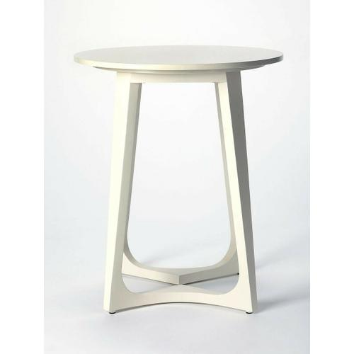 This white end table is perfect for small spaces. With a modern aesthetic you, can enjoy a cup of tea and chat with friends in the sunroom, or eat breakfast while watching the morning news with the help of this stylish and convenient end table. Use its ro