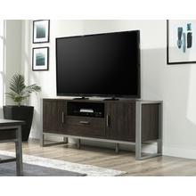 Contemporary Metal & Wood TV Credenza