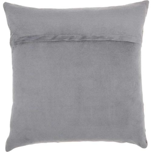 """Natural Leather Hide S4291 Grey 20"""" X 20"""" Throw Pillow"""