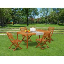 This 5 Piece Acacia Hardwood Balcony Sets includes one Outdoor-Furniture table and 4 foldable Outdoor-Furniture chairs