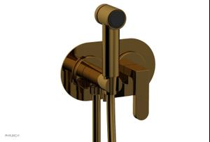 ROND Wall Mounted Bidet, Lever Handle 183-65 - French Brass Product Image
