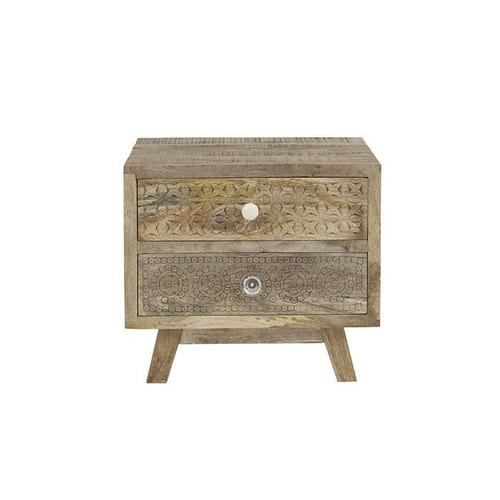 2 Drawer Accent Table - Alabaster Finish