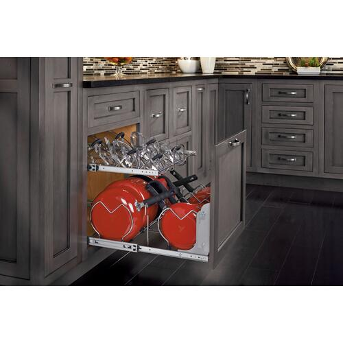 Rev-A-Shelf - 5CW2-2122SC-CR- 21 in. Pull-Out Two-Tier Base Cabinet Cookware Organizer with Soft Close slides