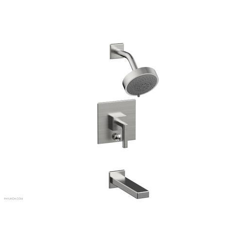 MIX Pressure Balance Tub and Shower Set - Lever Handle 290-27 - Satin Chrome