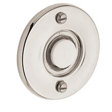 Polished Nickel with Lifetime Finish Round Bell Button
