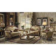 GOLD PATINA/BONE PU LOVESEAT@N
