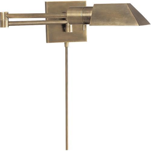 Studio 24 inch 40 watt Antique Nickel Swing-Arm Wall Sconce Wall Light