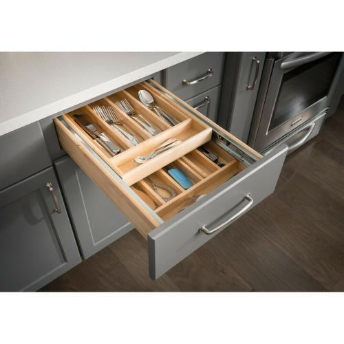 Hardware Resources Cd21 Studio41 Nested Cutlery Drawer For 21 Base Cabinet 17 1 2 W X 21 D X 4 3 16 H Requires Minimum 5 Tall Drawer Opening Includes Pre Assembled 100 Lb Full Extension Inner Drawer