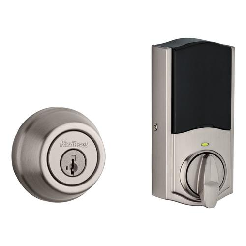 Kwikset - Signature Series Deadbolt with Home Connect with Zigbee Technology - Satin Nickel