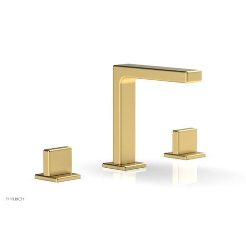 """MIX Widespread Faucet - Blade Handle 6-3/4"""" Height 290-01 - Burnished Gold"""