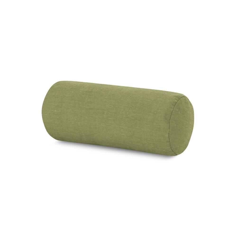 Cast Moss Outdoor Bolster Pillow