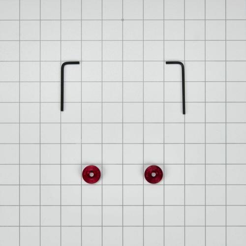 Gallery - Wall Range Door Handle Medallion Set, Red - Other