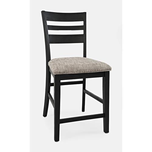 Altamonte Ladderback Counter Stool - Dark Charcoal