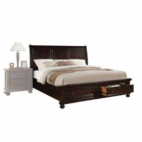 ACME Grayson California King Bed w/Storage - 24604CK - Dark Walnut