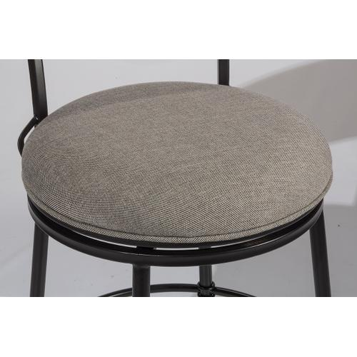 Thielmann Commercial Swivel Counter Stool - Granite/dark Charcoal