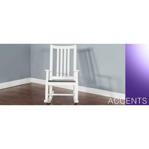 Sunny Designs - Slatback Rocker w/ Wood Seat-2 Tones