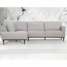 ACME Tampa Sectional Sofa - 54990 - Pearl Gray Leather