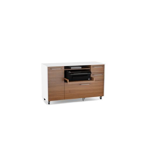 BDI Furniture - Format 6320 Multifunction Cabinet in Natural Walnut Satin White