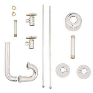 "Polished Nickel - Natural Lavatory Supply Kit, 1/2"" IPS"
