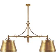 E. F. Chapman Sloane 4 Light 54 inch Antique-Burnished Brass Linear Pendant Ceiling Light in Antique Brass