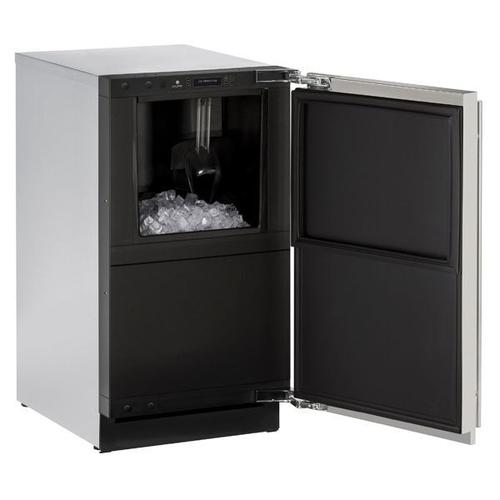 """U-Line - 3018clr 18"""" Clear Ice Machine With Stainless Solid Finish, Yes (115 V/60 Hz Volts /60 Hz Hz)"""