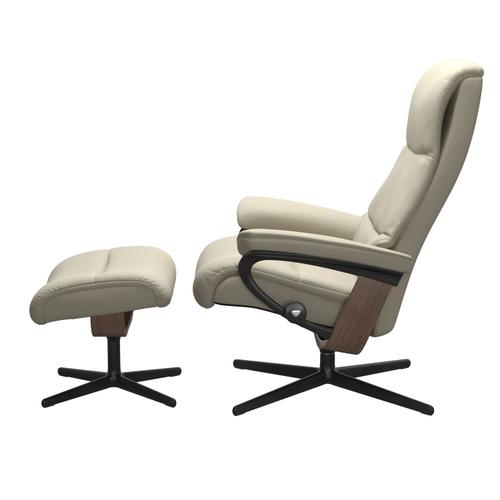 Stressless By Ekornes - Stressless® View (M) Cross Chair with Ottoman
