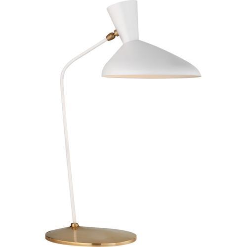 AERIN Austen 26 inch 40 watt Matte White Table Lamp Portable Light, Large