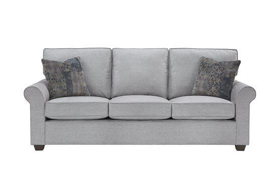 3 Cushion Sofa - Shown in 114-08 Gray Finish