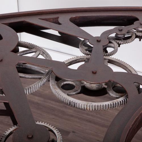 """Steampunk 67"""" Glass Office Desk"""