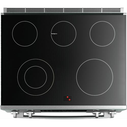 800 Series Electric Slide-in Range 30'' black inox HEI8046U
