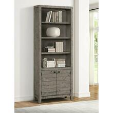 TEMPE - GREY STONE 32 in. Open Top Bookcase