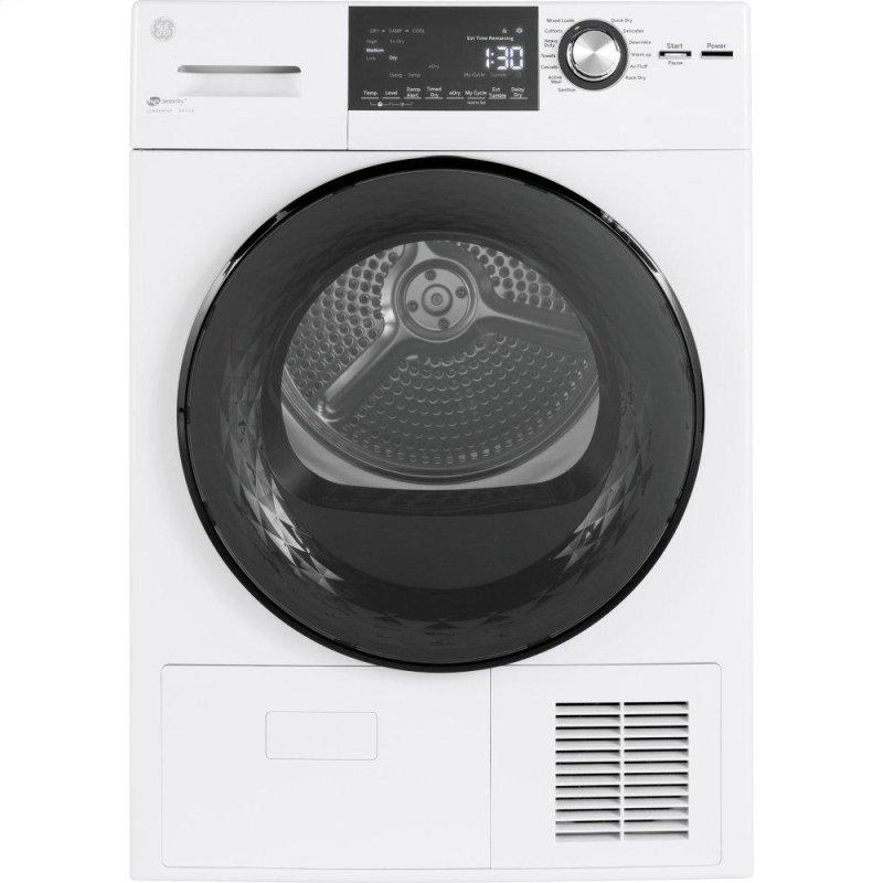 """24"""" 4.1 Cu.Ft. Front Load Ventless Condenser Electric Dryer with Stainless Steel Basket"""