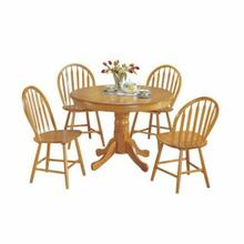 ACME Farmhouse 5Pc Pack Dining Set - 07021 - Oak