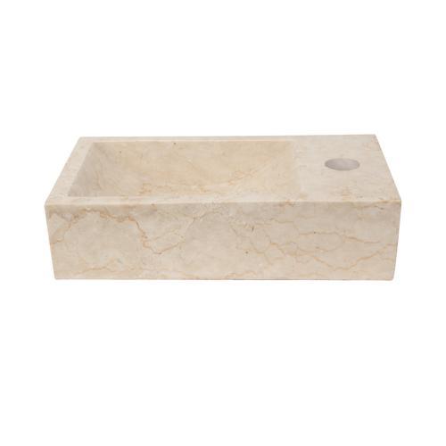 Modena Above Counter Basin - Cream Marble