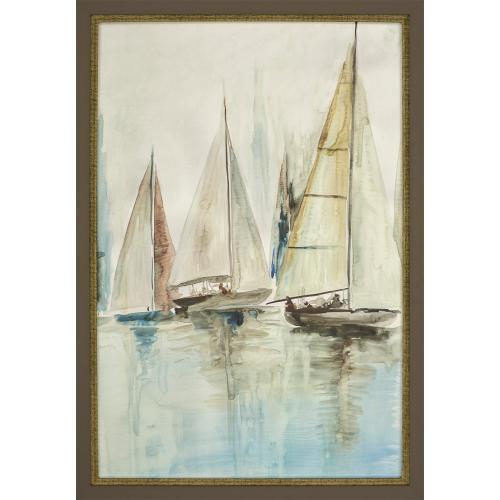 Blue Sailboats III