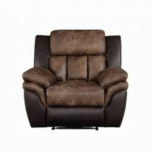 ACME Jaylen Recliner - 55427 - Contemporary - Polished Mfb, Frame: Wood (Hemlock/Fir, Ply), Foam (D28), Metal Reclining Mechanism - Toffee and Espresso Polished Microfiber