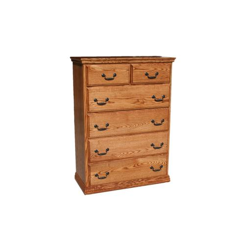 O-T451 Traditional Oak 6-Drawer Gentleman's Chest
