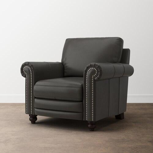 Jackson Charcoal Jackson Leather Chair