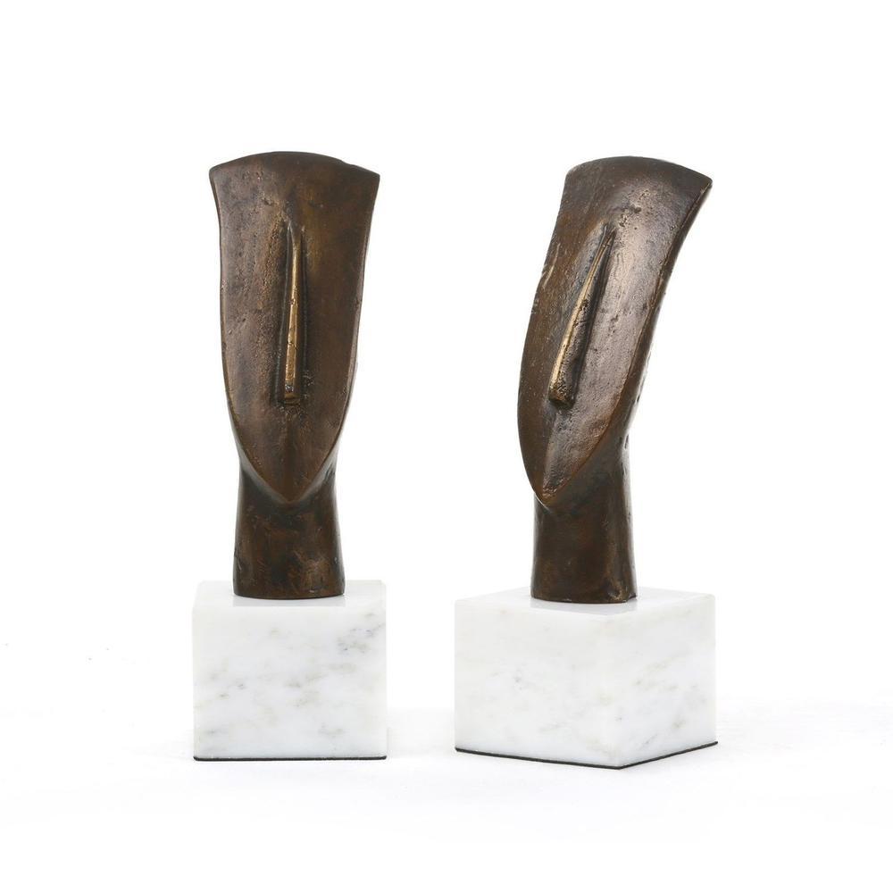 See Details - Delos Head Statue, Bronze