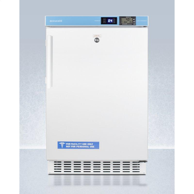 """Pharmacy Series ADA Compliant 20"""" Wide Built-in Undercounter All-refrigerator for Vaccine Storage, Frost-free With an Internal Fan, External Digital Controls and Thermometer, and Lock"""