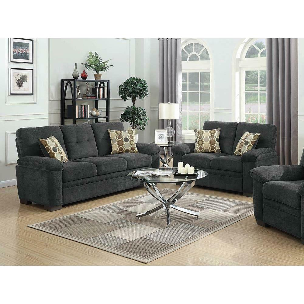 See Details - Fairbairn Casual Charcoal Two-piece Living Room Set