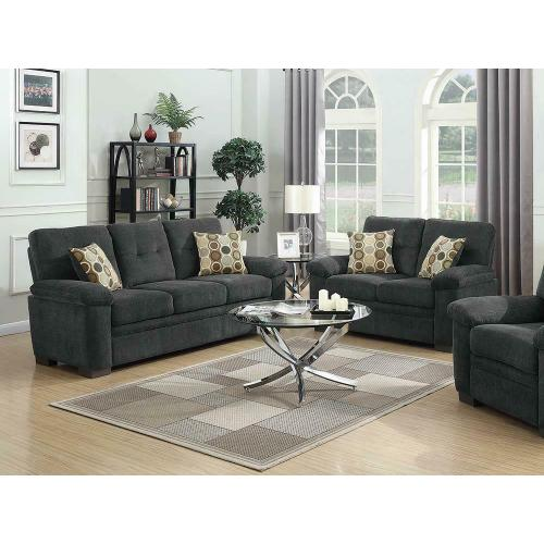 Coaster - Fairbairn Casual Charcoal Two-piece Living Room Set