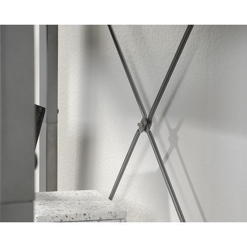 Contemporary 4-Shelf Metal & Wood Bookcase