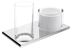 11553 Double holder glass/lotion dispenser Product Image