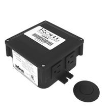Air Activated Switch Button with Control Box for Waste Disposal - Matte Black